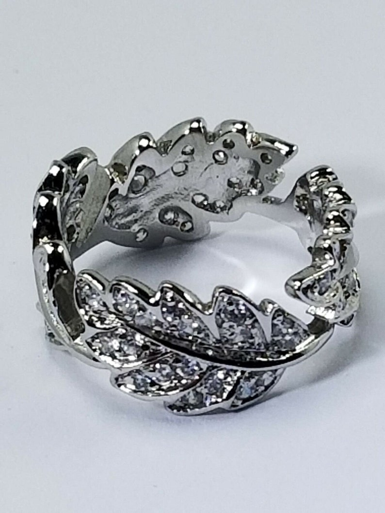 Women/'s Sterling Silver 925 Ring With Round CZ/'s Stones  #80547