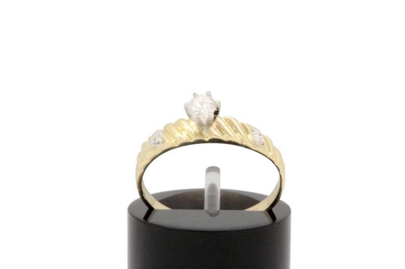 Women/'s 14k Yellow Gold Engagement Wedding Ring Diamond .18ct G SI2 ZRW #31729