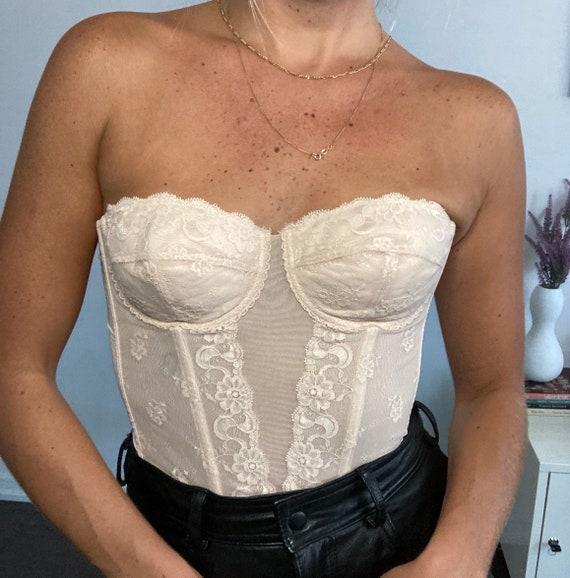 Vintage light pink lace corset - image 1