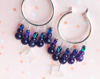 Keuka Lake Glass Jewelry / Finger Lakes Jewelry / Keuka Lake Hoops / Keuka Lake Silver Jewelry / Keuka Lake New York / Keuka Lake Art