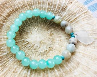 Keuka Lake Glass Jewelry / Finger Lakes Jewelry / Keuka Lake Bracelet / Keuka Lake Silver Jewelry / Keuka Lake New York / Keuka Lake Art
