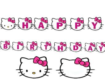 Hello Kitty Banner Etsy