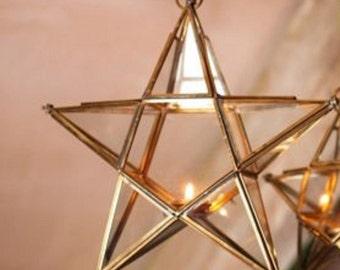 Windsparkles Stainless Steel Wind Spinner Starburst Purple Gold,Outdoor,Indoor