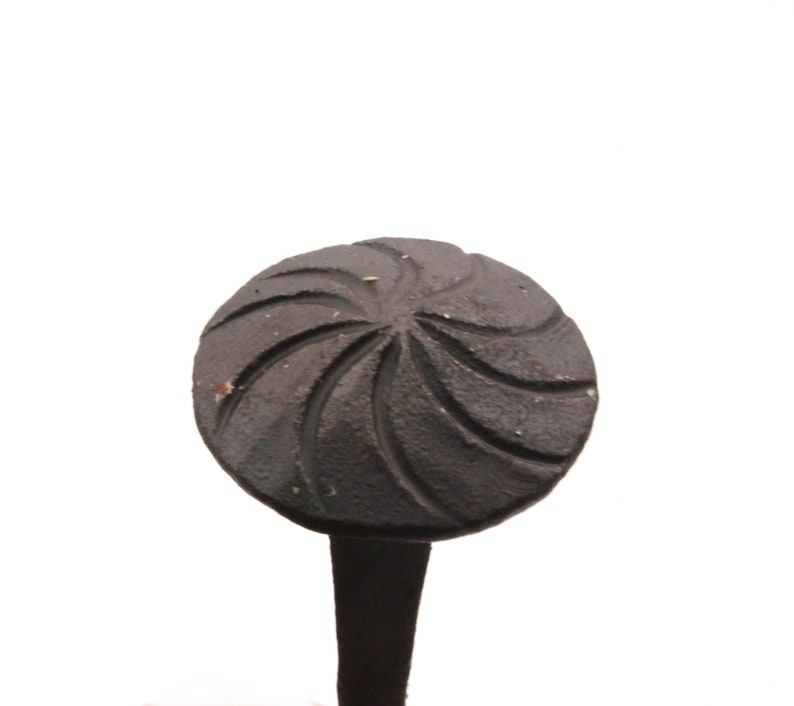 Hand Forged Handmade Traditional Old Antique Rustic Round Vintage Victorian Head Wrought Black Iron Nail Wood Craft Door Furniture Studs 1kg