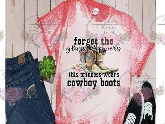 Forget the Glass Slippers/Bleached TShirt