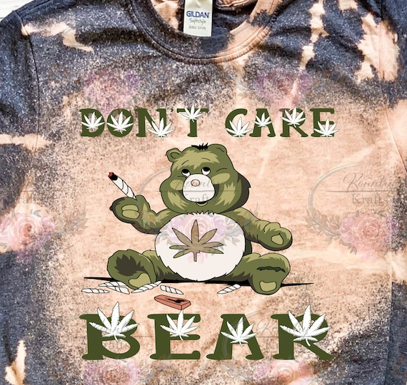 Don't Care Bear/Bleached Tee