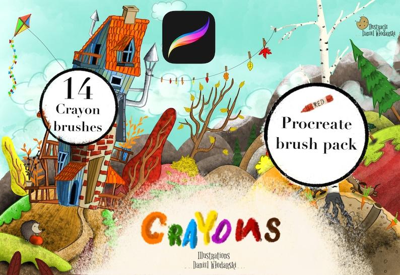 Procreate crayon brush pack image 1