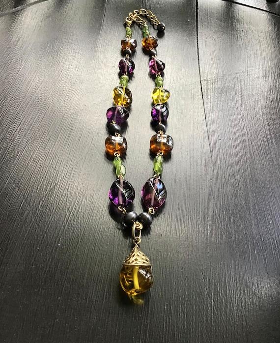 Vintage Louis Rousselet ? Poured Glass Necklace