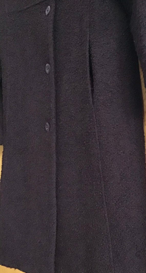 HALSTON Wool blend Coat Plum size-10 excellent vi… - image 3