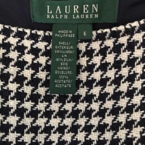 Lauren Ralph Lauren Houndstooth Linen Silk Sheath