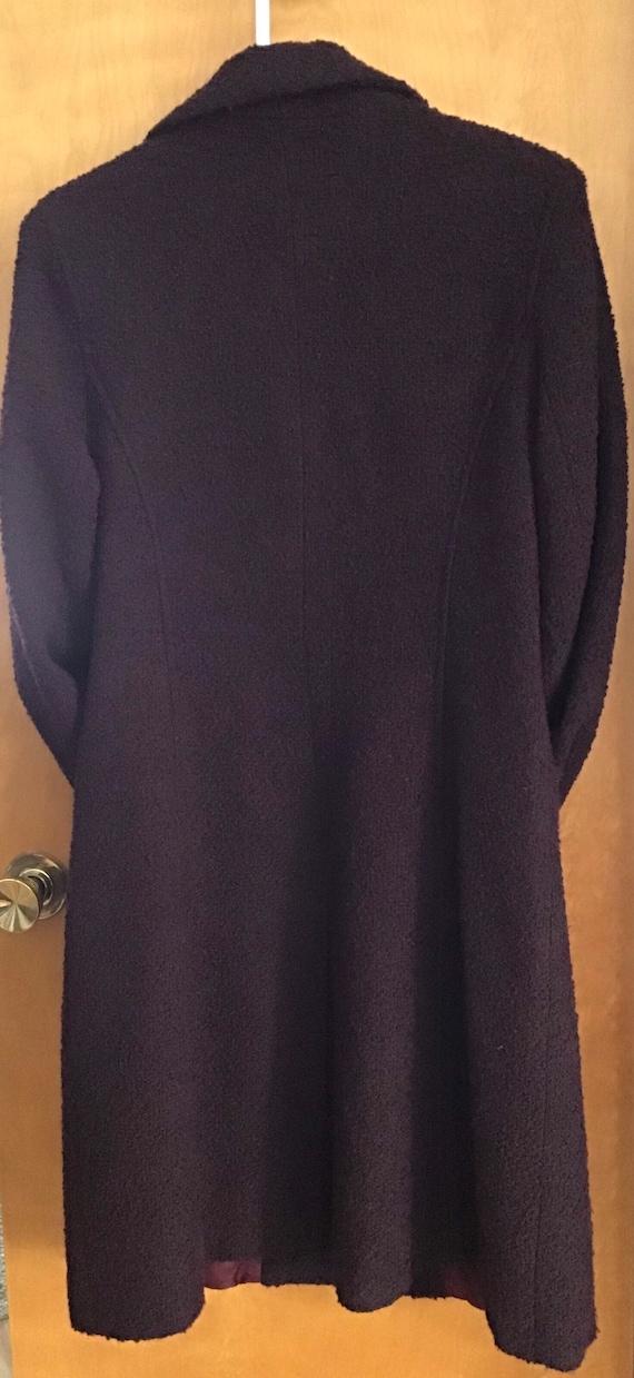 HALSTON Wool blend Coat Plum size-10 excellent vi… - image 6