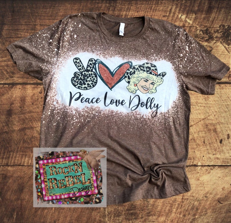Peace Love /& Dolly Bleached Tshirt