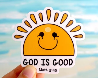 Christian Stickers | God is Good | Faith Stickers |  Waterproof Stickers