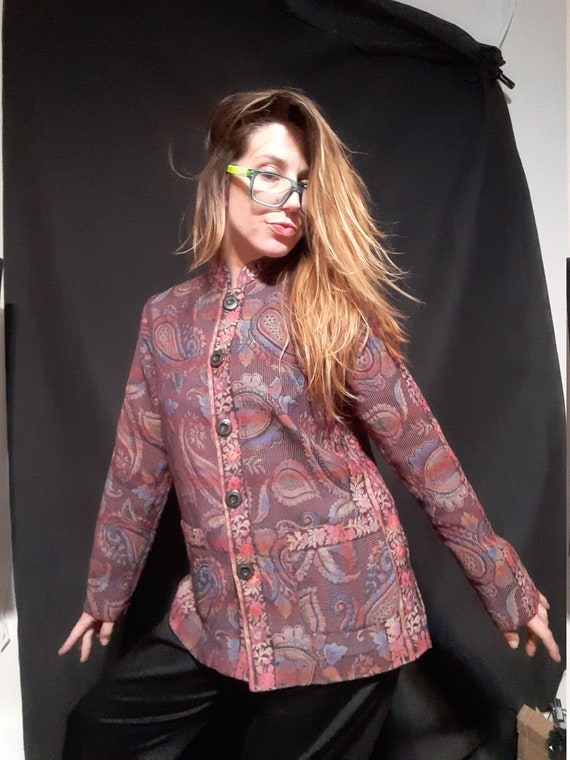 1990's embroidered tapestry jacket