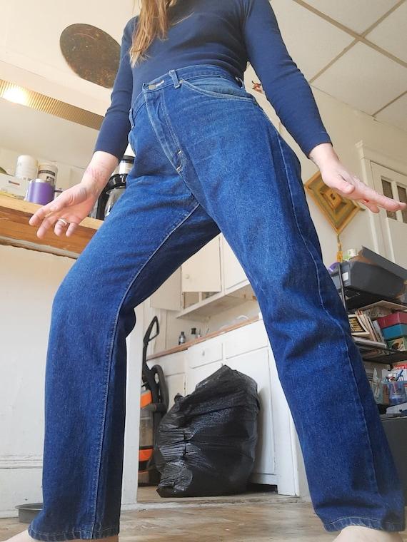 Rare 1980's plus sized straight leg Lee jeans - image 1