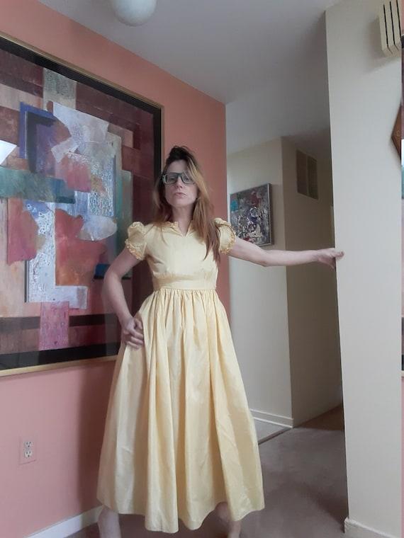 1920's taffeta gown