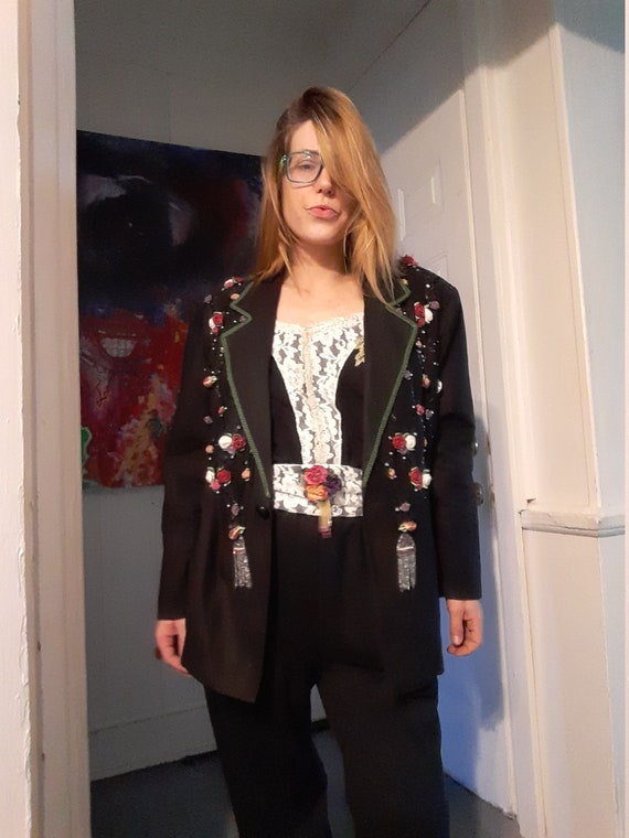 1980's jumpsuit w / matching jacket & belt