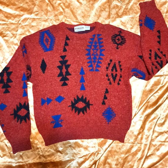 Men's 1980's Aztec sweater by McGregor