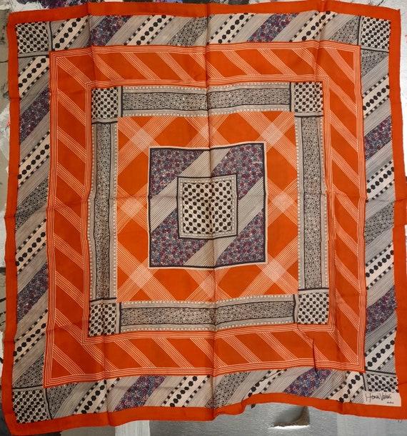 Rare 1960's geometric designer scarf by Henri Valo