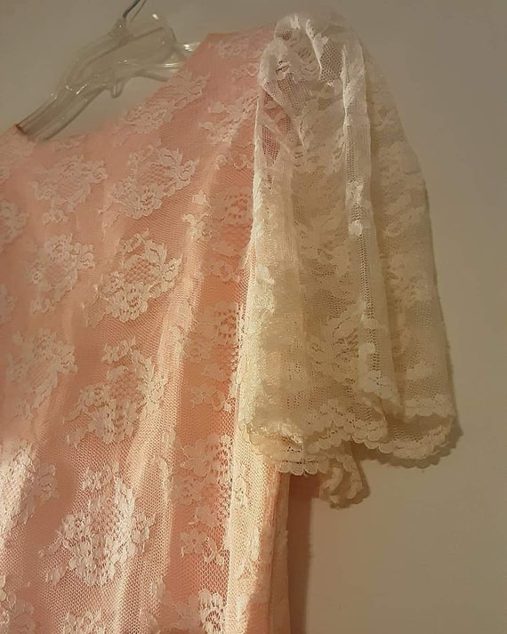 70's does 20's pink lace maxi dress - image 6