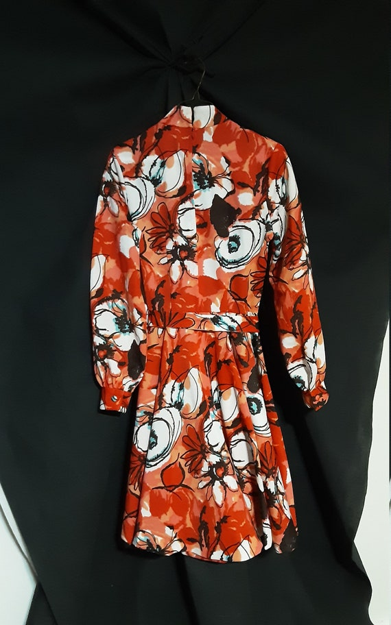 1970's psychedelic floral midi dress - image 9