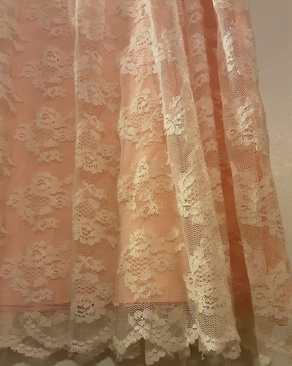 70's does 20's pink lace maxi dress - image 9