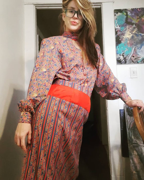 1980's does 40's two piece skirt set