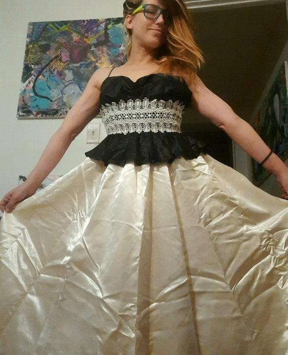 1980's DEADSTOCK Gunne Sax gown ~ prom ~ wedding d