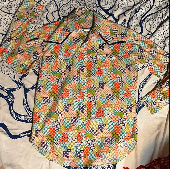 Men's 1970's psychedelic Western shirt