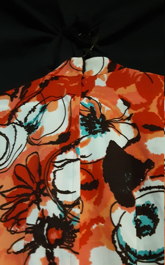 1970's psychedelic floral midi dress - image 10