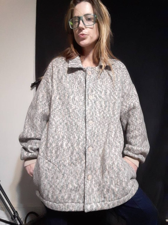 Oversized 1990's fleece jacket - image 3