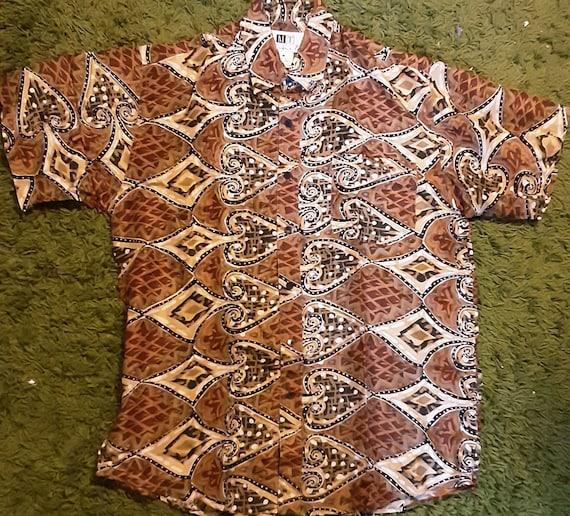 Men's 1990's silk shirt w/ spades