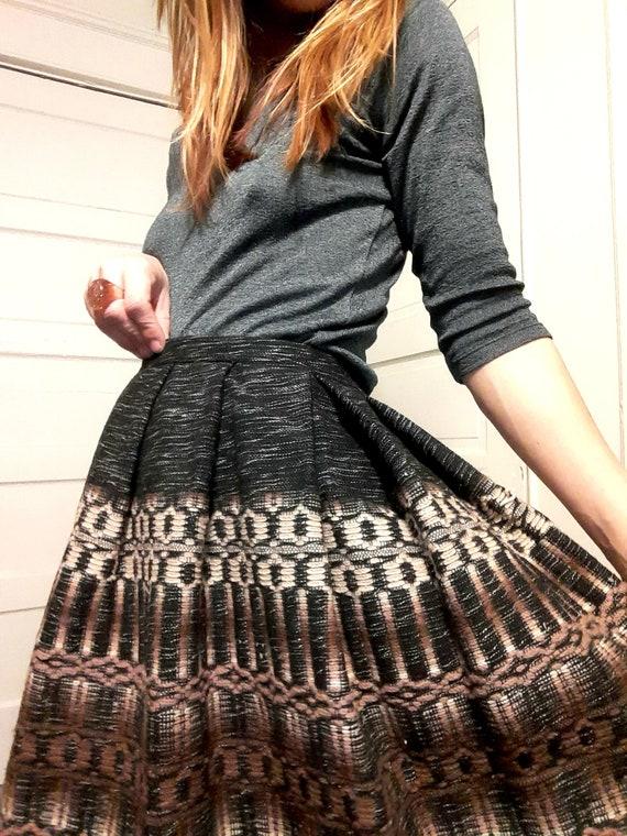 1940's wool circle skirt