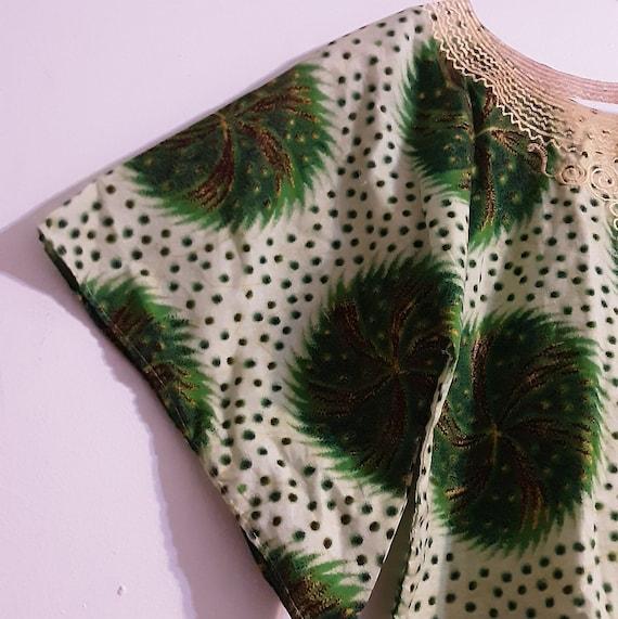 1960's psychedelic batik print crop top - image 9