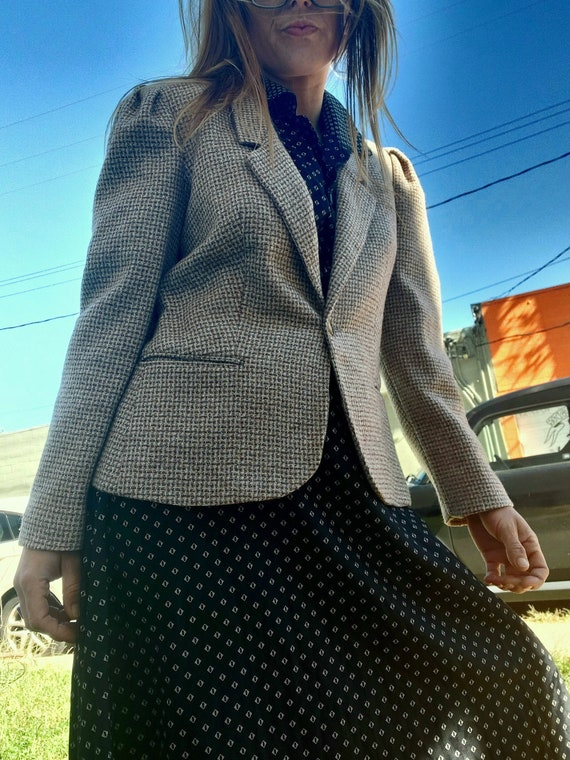1970's preppy tweed wool blazer ~ suit jacket