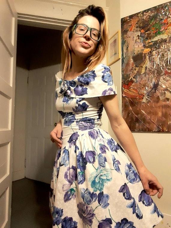 1980's floral party dress