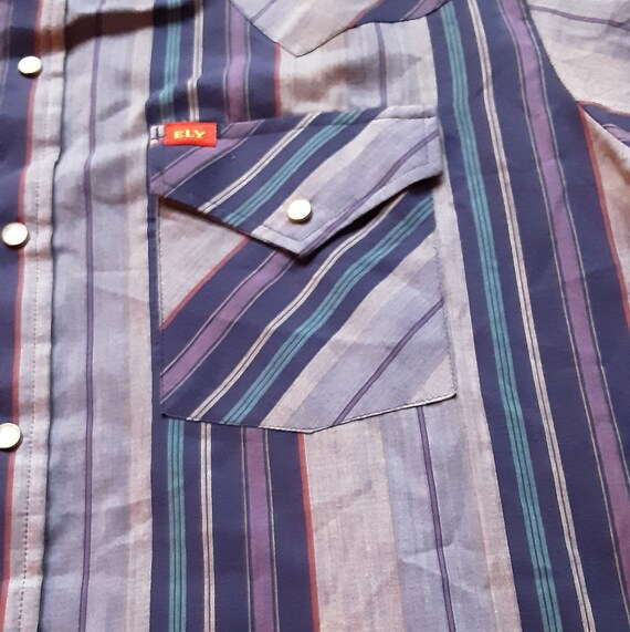 1970's Ely Plains Western shirt - image 7