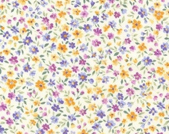 Fabric - PURPLE - Sevenberry Bouquet Spring - Tiny Floral Fabric NEW!!!