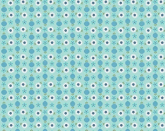 Riley Blake Fat Quarter Song Bird Flowers In Blue Cotton Quilting Fabric