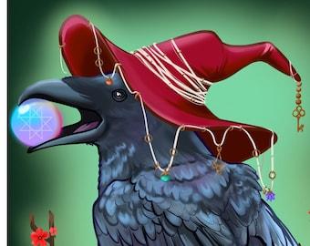 """Crow witch 11x17"""" print"""