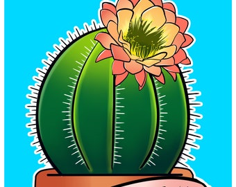 """Bloom Where You Are Planted Cactus 11x17"""" print"""