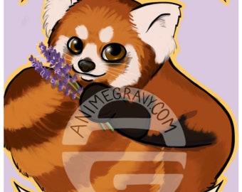 """Self Care isn't Selfish red panda encouragement 11x17""""print"""