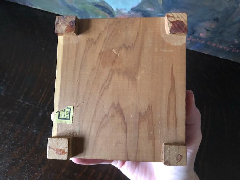 Vintage Cedar Chest Jewelry Box Vintage Cedar Box Vintage Cedar and Brass Lidded Jewelry Box Vintage Victorian Couple Cedar Box Vintage Box