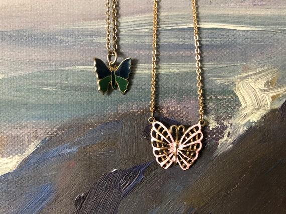 Vintage Butterfly Necklace Set Vintage Necklaces V