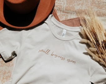 Small Business Owner Shirt   Support Small Business   Small Business Gift   Business Tee   Entrepreneur Shirt   Girl Boss   thatclaygirlco