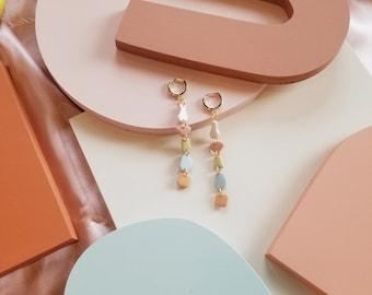 Polymer Clay Earrings   Summer Earrings   Dainty Earrings   Flower Earrings   Handmade Earrings   Dangle Earrings   thatclaygirlco