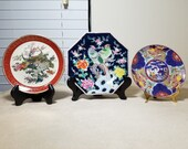 Set of 3 Collectible Vintage Asian Plates