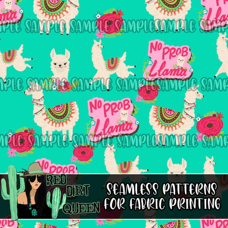 Seamless Pattern No Prob Llama