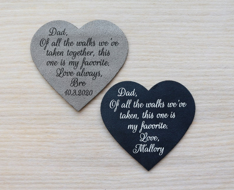Tie patch for dad personalized gift from daughter for father of the bride Always your little girl
