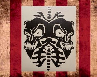 Twiztid Skulls Logo Vinyl Decal, Choose Size/Color     Juggalo Juggalette Clown Love    Car Gathering of the Juggalo ICP Twiztid